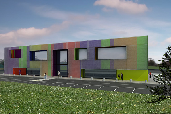 sistemazione_reorganization_facciata_facade_edificio_industriale_industrial_rete_net_infissi